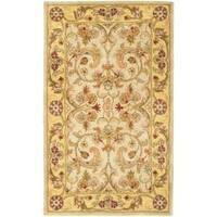 Safavieh Handmade Classic Grey/ Light Gold Wool Rug - 3' x 5'