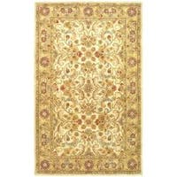 Safavieh Handmade Classic Grey/ Light Gold Wool Rug - 4' x 6'