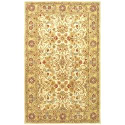 Safavieh Handmade Classic Grey/ Light Gold Wool Rug (4' x 6')