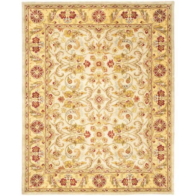 Safavieh Handmade Classic Grey/ Light Gold Wool Rug - 7'6 x 9'6