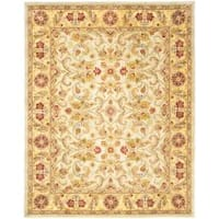 Safavieh Handmade Classic Grey/ Light Gold Wool Rug - 7'6 x 9'6