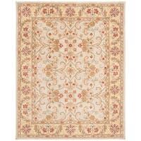 "Safavieh Handmade Classic Grey/ Light Gold Wool Rug - 7'6"" x 9'6"""