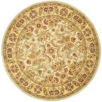 Safavieh Handmade Classic Grey/ Light Gold Wool Rug - 8' x 8' Round