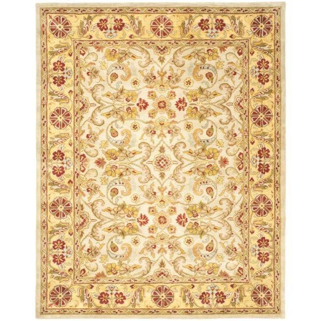 Safavieh Handmade Classic Grey/ Light Gold Wool Rug - 8'3 x 11'