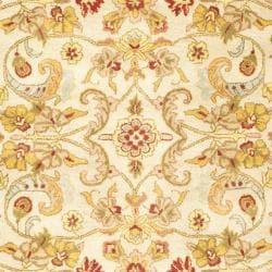 Safavieh Handmade Classic Grey/ Light Gold Wool Rug (8'3 x 11')