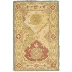 Safavieh Handmade Antiquities Bakhtieri Multi/ Beige Wool Rug (2' x 3')