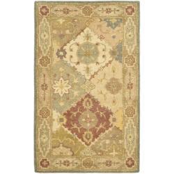 Safavieh Handmade Antiquities Bakhtieri Multi/ Beige Wool Rug (2'3 x 4')