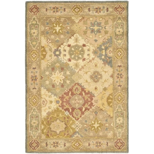 Safavieh Handmade Antiquities Bakhtieri Multi/ Beige Wool Rug - 4' x 6'