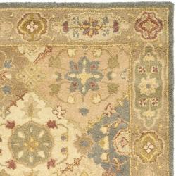 Safavieh Handmade Antiquities Bakhtieri Multi/ Beige Wool Rug (4' x 6') - Thumbnail 1