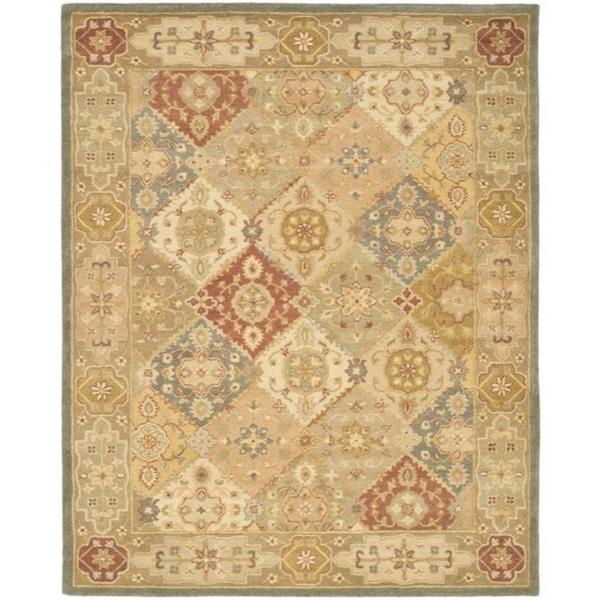 Safavieh Handmade Antiquities Bakhtieri Multi/ Beige Wool Rug - 6' x 9'