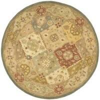Safavieh Handmade Antiquities Bakhtieri Multi/ Beige Wool Rug - 6' x 6' Round