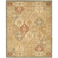 Safavieh Handmade Antiquities Bakhtieri Multi/ Beige Wool Rug - 7'6 x 9'6