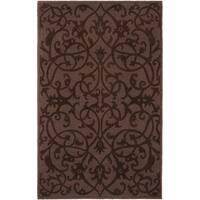 Safavieh Handmade Irongate Brown New Zealand Wool Rug - 5' x 8'