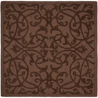 Safavieh Handmade Irongate Brown New Zealand Wool Rug - 6' x 6' Square
