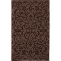 Safavieh Handmade Irongate Brown New Zealand Wool Rug - 7'6 x 9'6