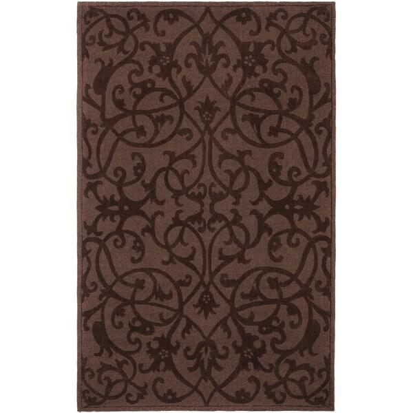 Safavieh Handmade Irongate Brown New Zealand Wool Rug - 7'6 x 9'6