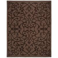 "Safavieh Handmade Irongate Brown New Zealand Wool Rug - 7'-6"" x 9'-6"""