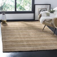 Safavieh Handmade Stripes Ivory/ Brown New Zealand Wool Rug - 5' x 8'