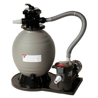 Blue Wave 18-inch Above Ground Sand Filter System - Black