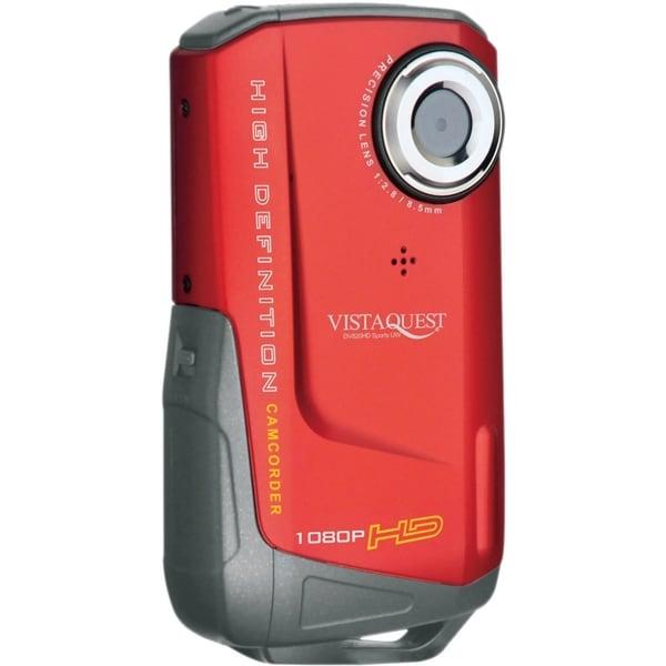 "VistaQuest DV-820 Digital Camcorder - 2"" LCD - CMOS - Full HD - Red"