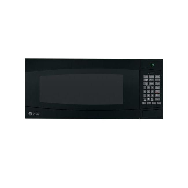 GE Profile PEM31DMBB Black 1-cu-ft Spacemaker Microwave Oven