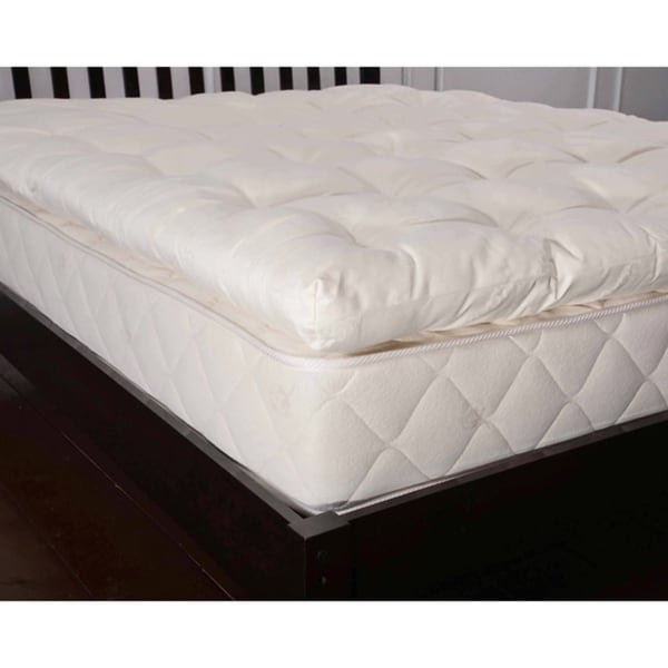 organic ecovalley wool 3inch mattress topper free shipping today