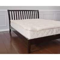 Organic Eco-Valley Wool 1.5-inch Mattress Pad - White