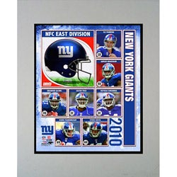 2010 New York Giants Matted Print
