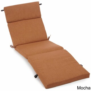 Blazing Needles Solid All-weather UV-resistant Outdoor Chaise Lounge Cushion (More options available)