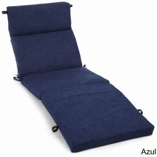 Blazing Needles Solid 72-inch All-Weather Chaise Lounge Cushion