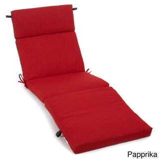 Blazing Needles Solid 72-inch All-Weather Chaise Lounge Cushion (Option: Papprika)