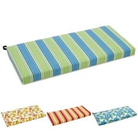 Blazing Needles Patterned All-weather UV-resistant Outdoor Loveseat/ Bench Cushion