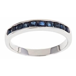 Anika and August 14k White Gold Blue Sapphire Fashion Ring