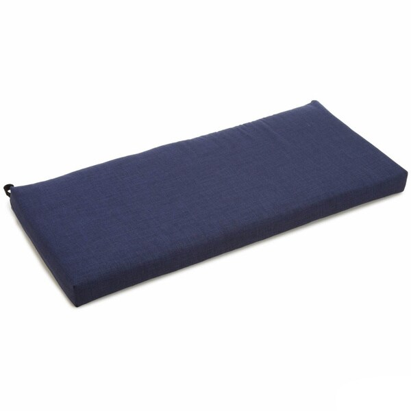 Blazing Needles Solid All-weather UV-resistant Outdoor Loveseat/ Bench Cushion - 39 x 19