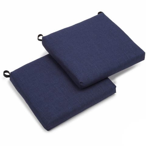 "Blazing Needles 19-inch All-Weather Chair Cushion (Set of 2) - 19"" x 19"""