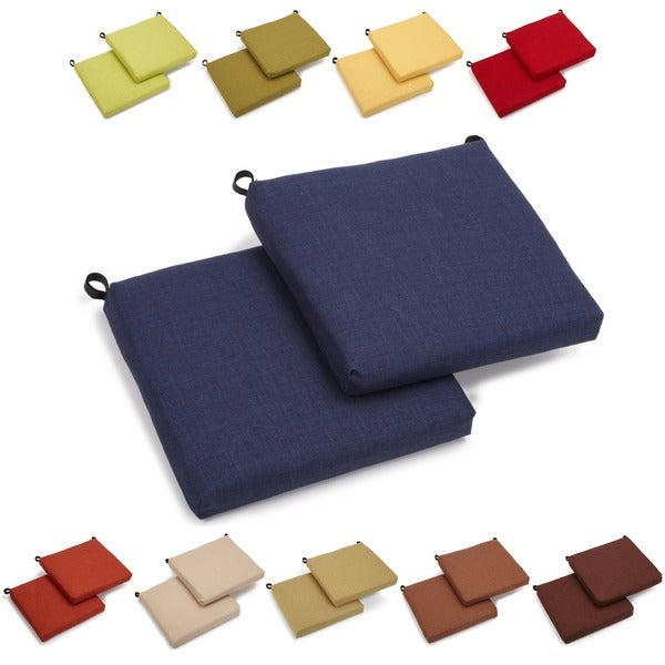 Blazing Needles All-weather UV-resistant Outdoor Chair Cushions (Set of 2)