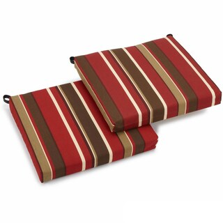 Blazing Needles 20-inch Designer All-weather Patio Chair Cushion (Set of 2) - 20 x 20