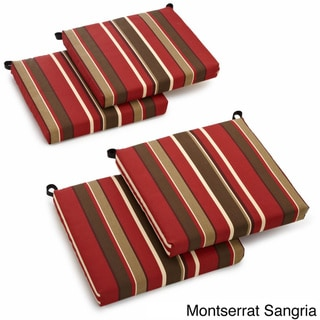 Blazing Needles All-weather Outdoor Patio Chair Cushion (Set of 4)