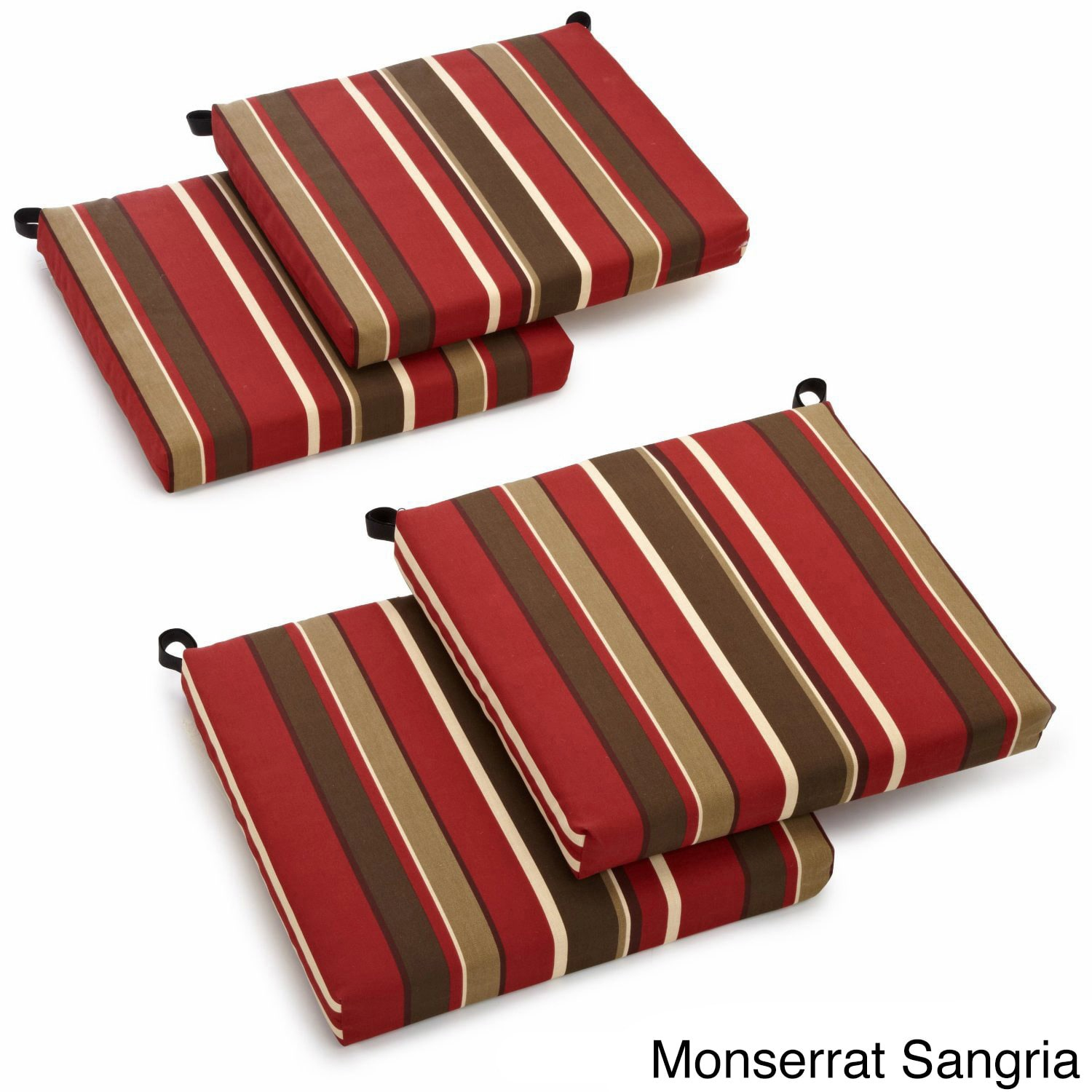 Excellent Blazing Needles All Weather Indoor Outdoor Chair Cushion Set Of 4 Home Interior And Landscaping Mentranervesignezvosmurscom