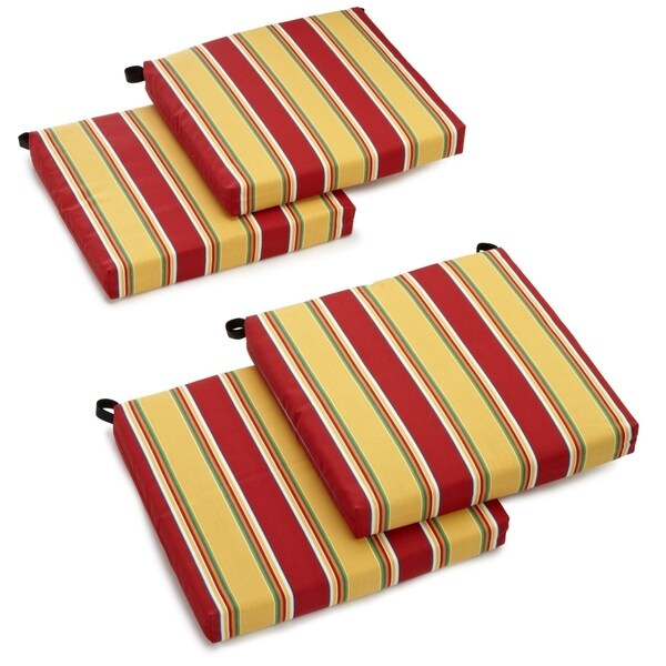 Blazing Needles 20-inch All-weather Indoor/Outdoor Chair Cushion (Set of 4). Opens flyout.