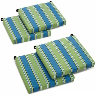 Blazing Needles 20-inch Designer All-weather Patio Chair Cushion (Set of 4)