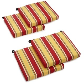 Blazing Needles 4-piece 20-inch Designer All-weather Patio Chair Cushion Set (3 options available)