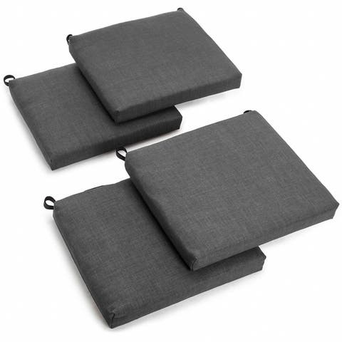 Blazing Needles 20 Inch All Weather Indoor Outdoor Chair Cushion Set Of
