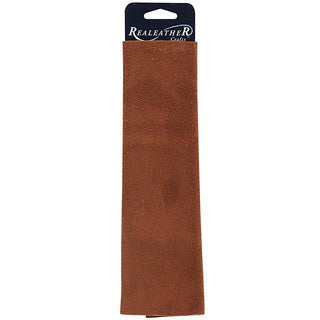 Large Suede Medium Brown Trim Piece