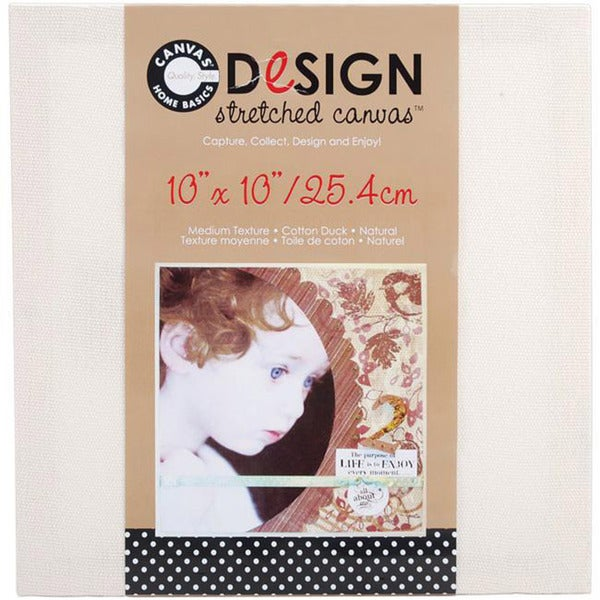 Stretched Natural Cotton Canvas (10 x 10)