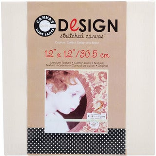 Stretched Natural Cotton Canvas (12 x 12)