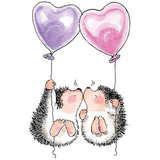 Penny Black 'Hedgehog Kisses' Cling Rubber Stamp
