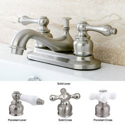 Satin Nickel Classic Two-handle Bathroom Faucet