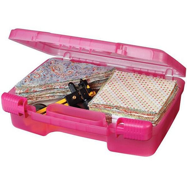Art Bin Translucent Raspberry Quick View Carrying Case