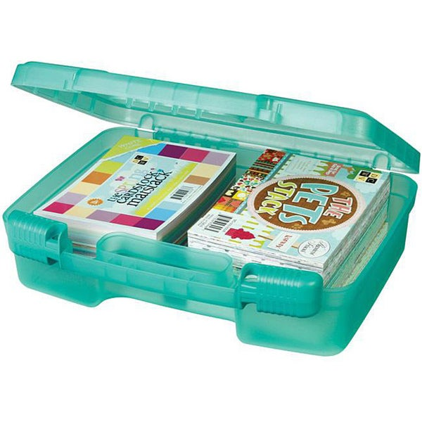 Art Bin Translucent Teal Quick View Carrying Case